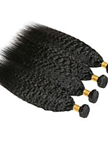 abordables -4 offres groupées Cheveux Malaisiens Yaki Cheveux humains Tissages de cheveux humains / Bundle cheveux / Extensions Naturelles 8-28 pouce Tissages de cheveux humains Extention / Meilleure qualit