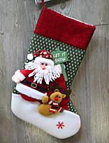 Недорогие -Чулки / Рождественские украшения Праздник Хлопковая ткань Квадратный Оригинальные Рождественские украшения