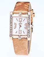 cheap -Women's Dress Watch Wrist Watch Quartz New Design Casual Watch Imitation Diamond PU Band Analog Casual Fashion Black / White / Blue - Red Blue Pink One Year Battery Life