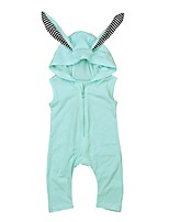 cheap -Baby Girls' Basic Print Sleeveless Cotton Romper