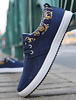cheap -Men's Canvas Spring & Summer Comfort Sneakers Black / Blue