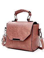 cheap -Women's Bags PU(Polyurethane) Tote Solid Black / Blushing Pink / Brown