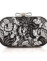 cheap -Women's Bags Polyester / Alloy Evening Bag Bow(s) / Crystals Gold / Silver
