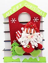 cheap -Christmas Ornaments Holiday Non-woven House Shaped Cartoon Christmas Decoration