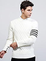 Недорогие -Муж. Классический Пуловер - Полоски