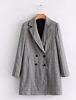 cheap -women's work blazer-check stand