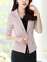 cheap -Women's Work Blazer-Solid Colored