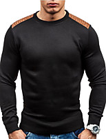 cheap -men's long sleeve pullover - color block round neck