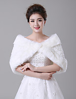 cheap -Sleeveless Faux Fur Wedding / Party / Evening Women's Wrap With Patterned Capelets