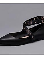 Недорогие -Жен. Обувь Кожа Лето Удобная обувь / Балетки На плокой подошве На низком каблуке Черный / Бежевый