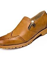 Недорогие -Муж. Обувь Bullock Полиуретан Осень Мокасины и Свитер Черный / Коричневый / Красный