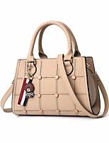 cheap -Women's Bags PU(Polyurethane) Tote Rivet Light Grey / Wine / Khaki