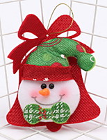 baratos -Enfeites de Natal Férias Tecido de Algodão Quadrada Novidades Decoração de Natal