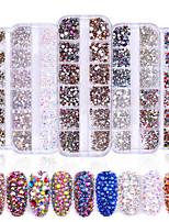 economico -1 / box Disegni alla moda / Luminoso Creativo Cuori manicure Manicure pedicure Materiale misto Glitters / Retrò Ricevimento di matrimonio / Da tutti i giorni