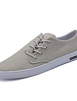 cheap -Men's Linen Summer Comfort Sneakers White / Black / Khaki
