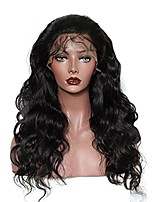 cheap -Human Hair Lace Front Wig Brazilian Hair / Burmese Hair Body Wave Wig Middle Part 130% Women / Easy dressing / Hot Sale Natural Women's Mid Length Human Hair Lace Wig