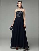 baratos -Linha A Sem Alças Longo Chiffon Frente Única Evento Formal Vestido com Miçangas de TS Couture®