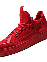 cheap -Men's Mesh / PU(Polyurethane) Fall Comfort Sneakers Gray / Red / Green