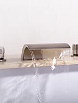Недорогие -Смеситель для ванны - Современный Матовый никель Разбросанная Керамический клапан