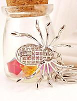 abordables -Araignées Porte-clés Or / Argent Irrégulier, Animal Imitation Diamant, Alliage Coque ornée de Diamant / Strass, Mode Pour Cadeau / Plein Air