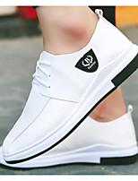 Недорогие -Муж. Комфортная обувь Полиуретан Весна & осень На каждый день Кеды Белый / Черный / Оранжевый