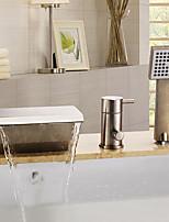 Недорогие -Смеситель для ванны - Подставка Матовый Ванна и душ Керамический клапан