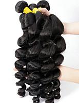 Недорогие -6 Связок Индийские волосы / Африканские косы Свободные волны Необработанные / Натуральные волосы Косплей Костюмы / Головные уборы / Человека ткет Волосы 8-28 дюймовый Естественный цвет
