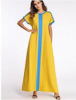 preiswerte -Damen Grundlegend Swing Kleid Tribal Maxi