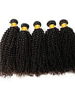 Недорогие -6 Связок Индийские волосы / Африканские косы Kinky Curly Необработанные / Натуральные волосы Подарки / Косплей Костюмы / Человека ткет Волосы 8-28 дюймовый Естественный цвет Ткет человеческих волос