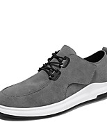 cheap -Men's Faux Leather / Synthetics Fall & Winter Comfort Sneakers Black / Gray / Khaki