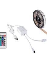 Недорогие -HKV 2м Наборы ламп / RGB ленты 120 светодиоды 5050 SMD 1 пульт дистанционного управления 24Keys RGB Водонепроницаемый / Можно резать / Компонуемый 5 V