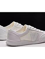 Недорогие -Муж. Комфортная обувь Полотно Весна & осень На каждый день Кеды Белый / Черно-белый