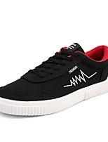 Недорогие -Муж. Полиуретан Осень Удобная обувь Кеды Черный / Серый / Черный / Красный