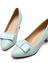 abordables -Femme Chaussures Polyuréthane Printemps Confort Chaussures à Talons Talon Bas Noir / Bleu / Rose