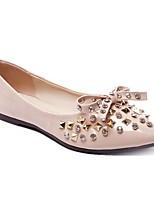 Недорогие -Жен. Комфортная обувь Полиуретан Лето На плокой подошве На низком каблуке Черный / Бежевый / Розовый