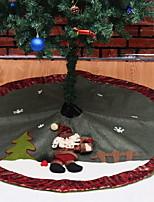 economico -Ornamenti di Natale Vacanza / Cartone animato Tessuto Tonda Originale Decorazione natalizia