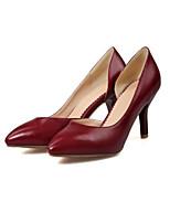 abordables -Femme Escarpins Polyuréthane Printemps Chaussures à Talons Talon Aiguille Noir / Beige / Rouge