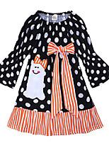 economico -Bambino / Bambino (1-4 anni) Da ragazza A pois / Collage Manica lunga Vestito