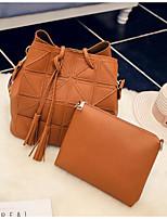 cheap -Women's Bags PU(Polyurethane) Bag Set 2 Pieces Purse Set Solid Blushing Pink / Gray / Brown