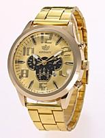 Недорогие -Муж. Нарядные часы Наручные часы Кварцевый Новый дизайн Повседневные часы сплав Группа Аналоговый На каждый день Мода Золотистый - Золотой Черный Один год Срок службы батареи