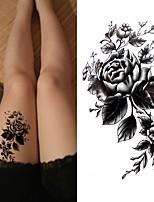 billiga -3 pcs Tatueringsklistermärken tillfälliga tatueringar Blomserier / Romantisk serie Miljövänlig / Ny Design Body art Kropp / arm / Bröst / Dekalstil tillfälliga tatueringar / Tattoo Sticker
