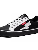 Недорогие -Муж. Искусственная кожа Осень Удобная обувь Кеды Контрастных цветов Белый / Черный