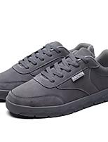 Недорогие -Муж. Комфортная обувь Искусственная кожа / Полиуретан Осень На каждый день Кеды Нескользкий Черный / Серый / Красный