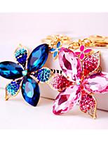 abordables -Fleur Porte-clés Bleu / Rose foncé Irrégulier Zircon, Alliage Doux, Coloré Pour Cadeau / Rendez-vous