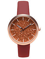 preiswerte -Damen Armbanduhr Quartz Armbanduhren für den Alltag Leder Band Analog Freizeit Modisch Schwarz / Blau / Braun - Braun Blau Rosa