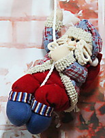 cheap -Christmas Figurines / Christmas Ornaments Holiday Cotton Fabric Square Novelty Christmas Decoration