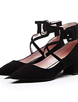 Недорогие -Жен. Замша Весна На каждый день Обувь на каблуках На толстом каблуке Белый / Черный / Розовый