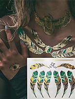 economico -3 pcs Metallico Tatuaggi temporanei Serie fiori / Serie romantica Ecologico / Nuovo design arti del corpo Corpo / braccio / polso / Tatuaggi di gioielli metallici