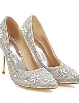 abordables -Femme Chaussures Toile Printemps Confort Chaussures à Talons Talon Aiguille Noir / Argent / Rouge