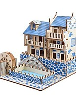 cheap -Wooden Puzzle / Logic & Puzzle Toy Scenic / Castle School / Professional Level / Stress and Anxiety Relief Wooden 1 pcs Kid's / Teen All Gift